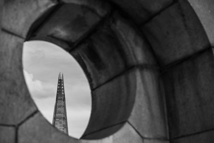 black and white photos of london