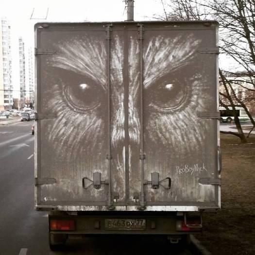 Dirty Car Art by Nikita Golubev