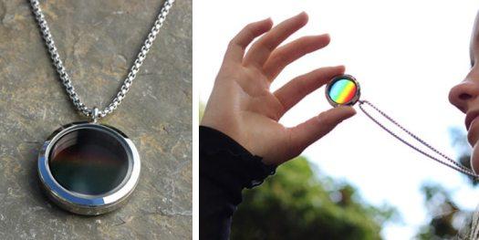 science jewelry for sale solar spectrum translucent locket