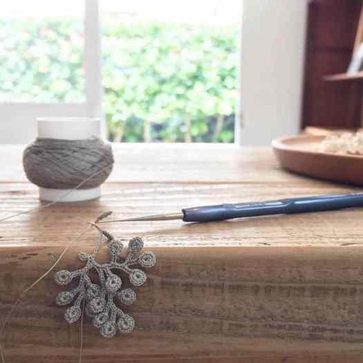 Crochet Jewelry Nature Jewelry Natural Dye Organic Jewelry Miho Fugita