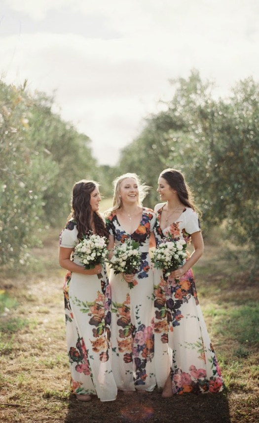 Floral Bridesmaid Dresses Floral Print Bridesmaid Dresses Bridesmaid Gown