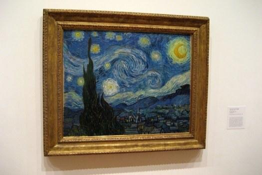 Van Gogh Starry Night Art Post-Impressionism Famous Paintings Self-Portrait