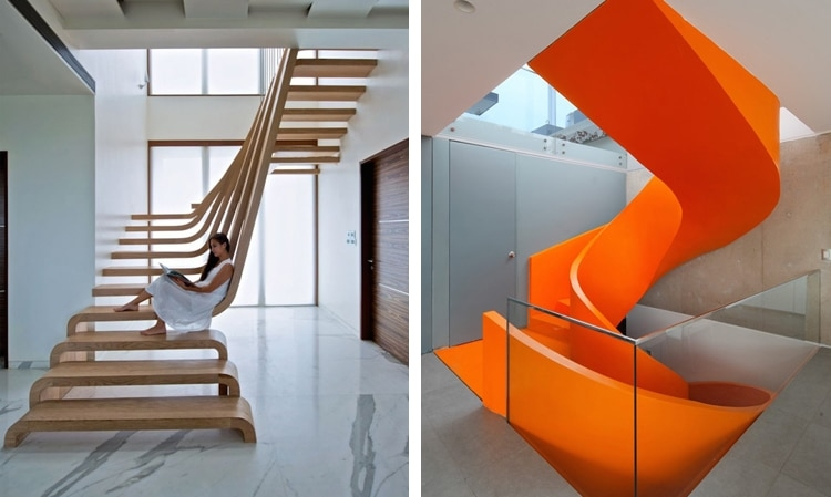 30 Examples Of Modern Stair Design That Are A Step Above The Rest | New Home Stairs Design | Beautiful | Entrance | Iron | Stairway | Wall