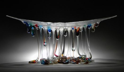 Glass Jellyfish Table Glass Sculpture Daniela Forti