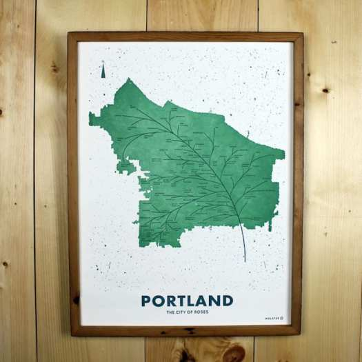 Modern Map Art Cartography Map Posters