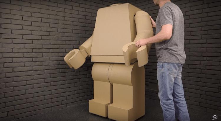Traje LEGO - Halloween DIY - Traje de Cartón