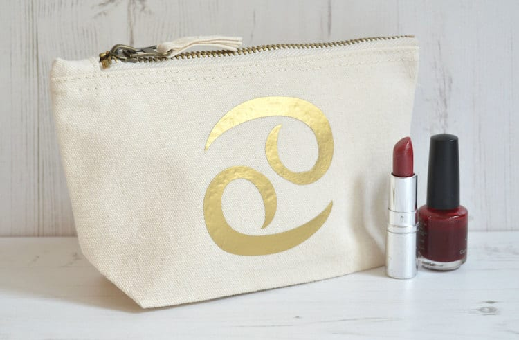 Zodiac Makeup Bag Astrology Gifts