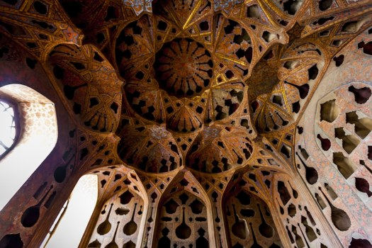 Isfahan Mosque Ceiling Photographed by James Longley