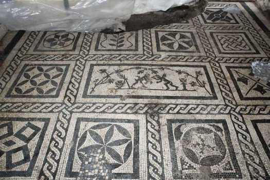 Ancient Roman Floor Mosaic Metro C Archaeology