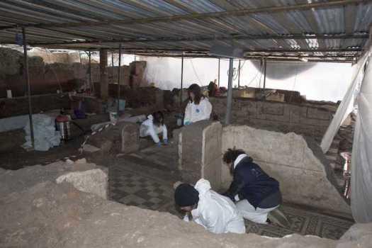 Archeologists Working Under Metro C