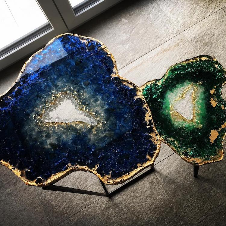 Geode Table Series By Mrs Colorberry Captures The Beauty