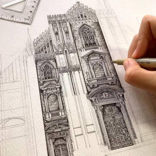Architectural Detail Drawings by Emi Nakajima