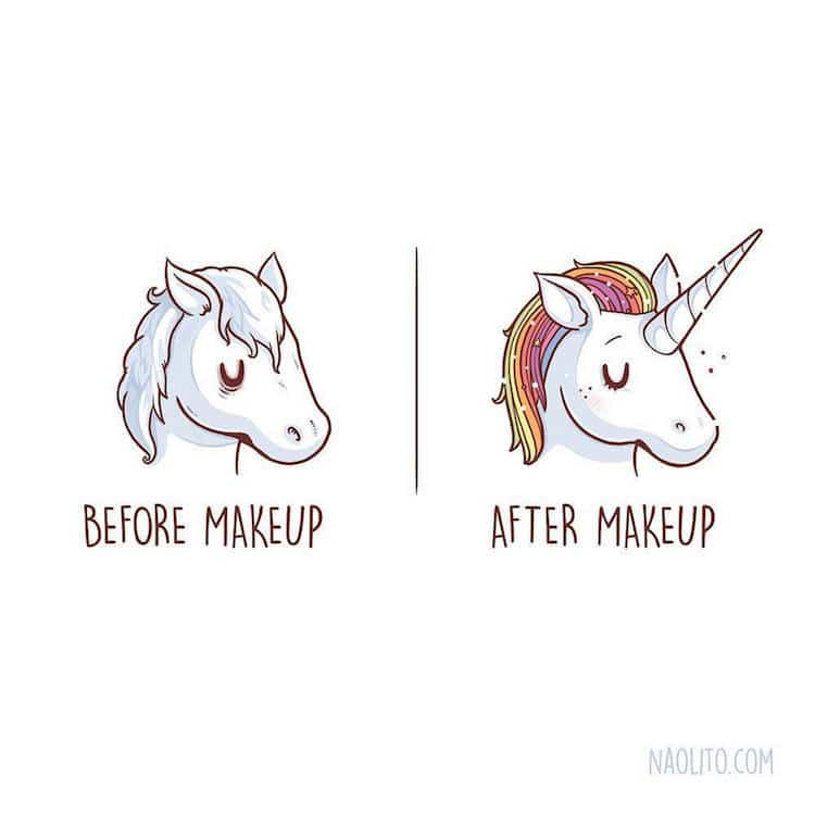 Cute Cartoon Drawings Illustrate Relatable Before And