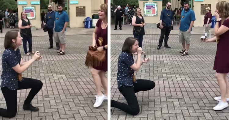 Couple Proposes at the Same Time in Adorable Double Proposal Video Double Wedding Proposal Video Proposal Videos Couple Proposes at the Same  Time