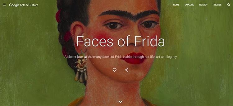 Faces of Frida Kahlo Google Arts and Culture