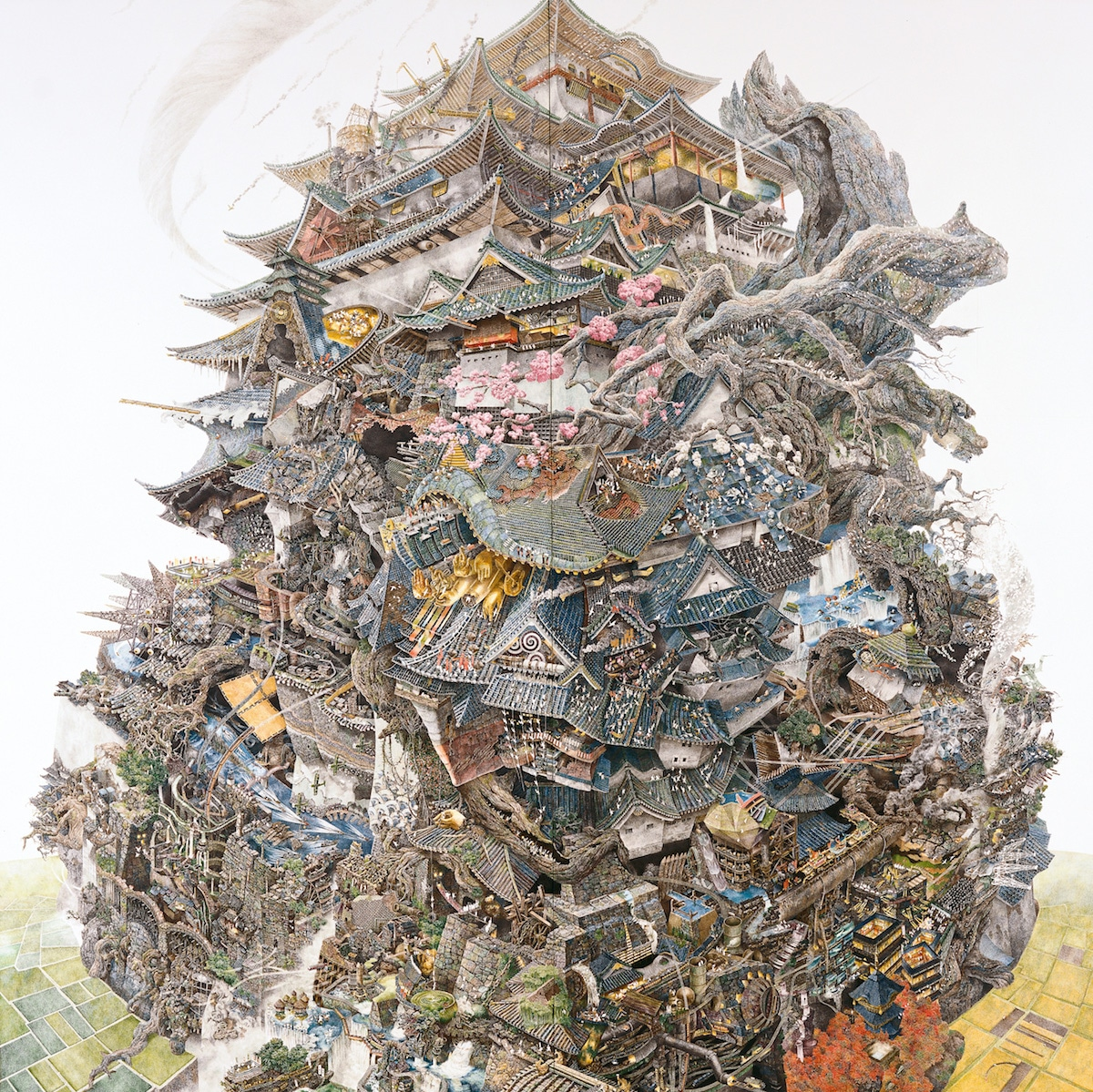 The Intricate Large Scale Pen And Ink Drawings Of Manabu