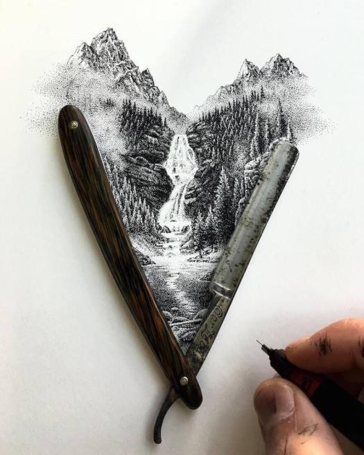 Stippling Art by Nicholas Baker