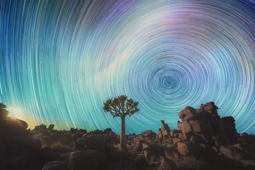 Swirling Star Trails Photography by Daniel Kordan