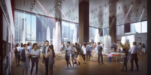 Rendering of Chicago Architecture Center