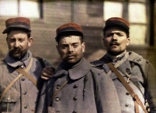 French soldiers during World War I