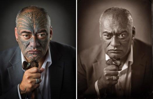 Wet Plate Photography of Māori by Michael Bradley