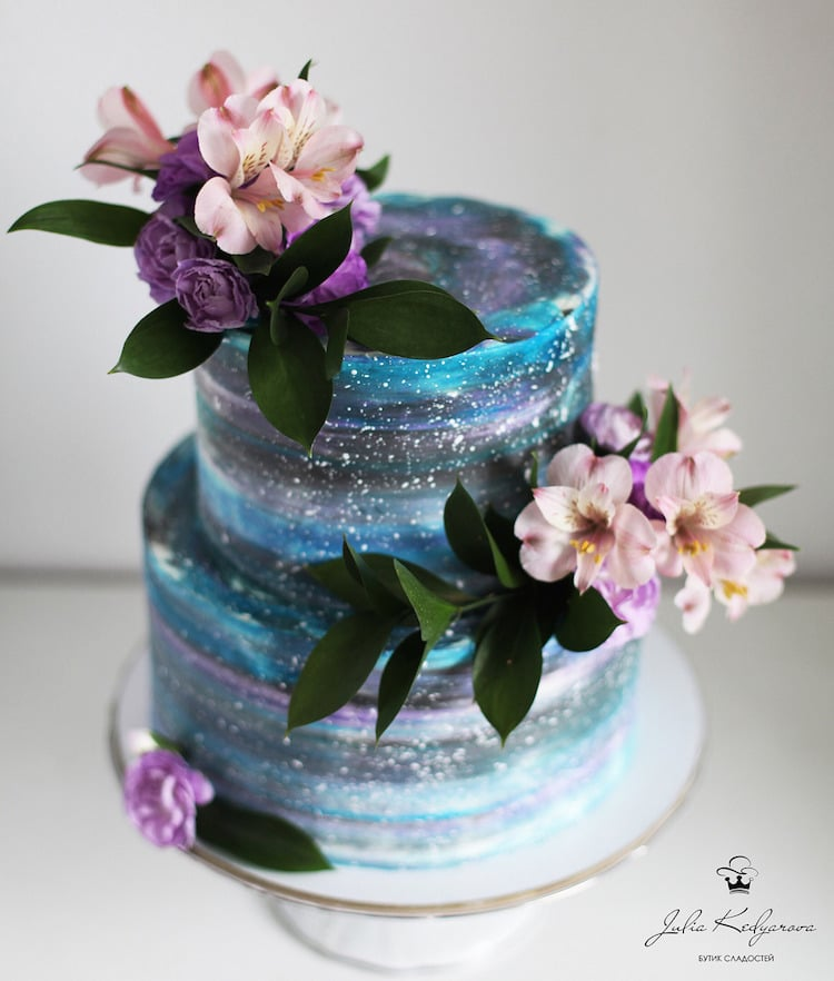 Nature Inspired Cake Art Designs Feature Edible Galaxies