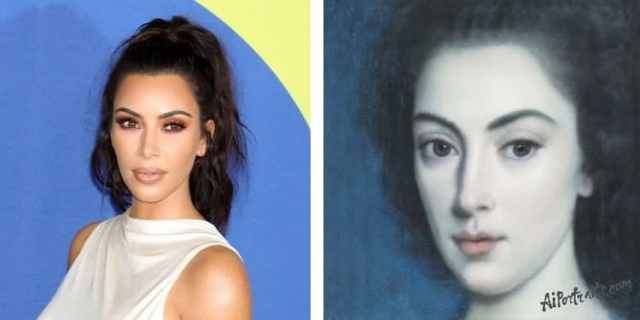 Kim Kardashian Using AI Portraits
