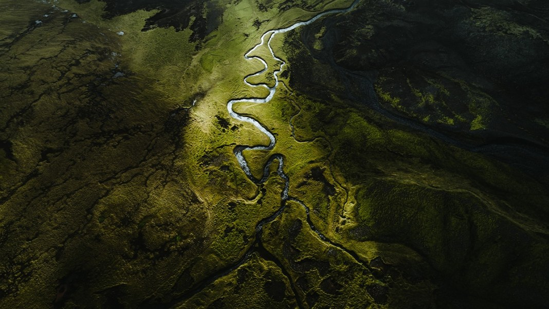 Iceland Landscape from Above