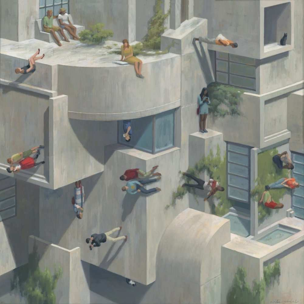 Surreal Architecture Paintings