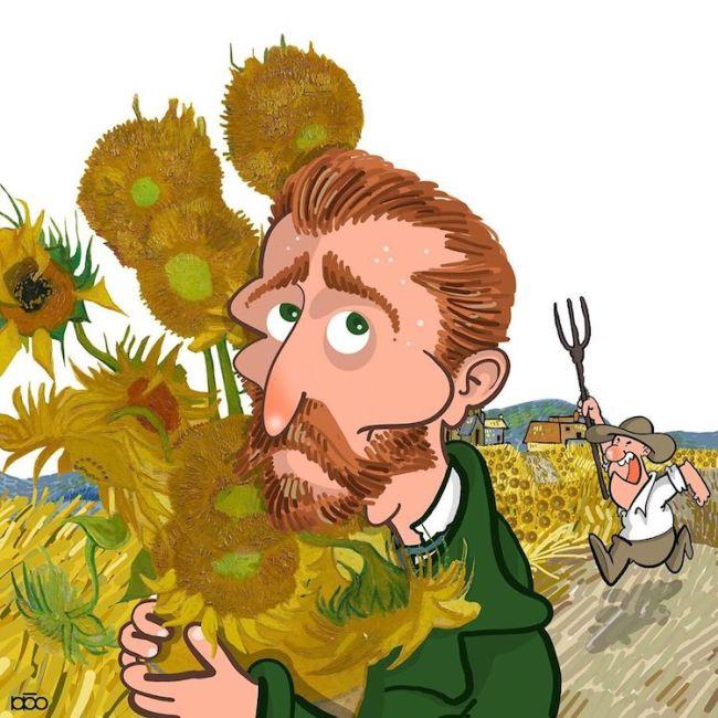 Van Gogh Cartoons by Alireza Karimi Moghaddam