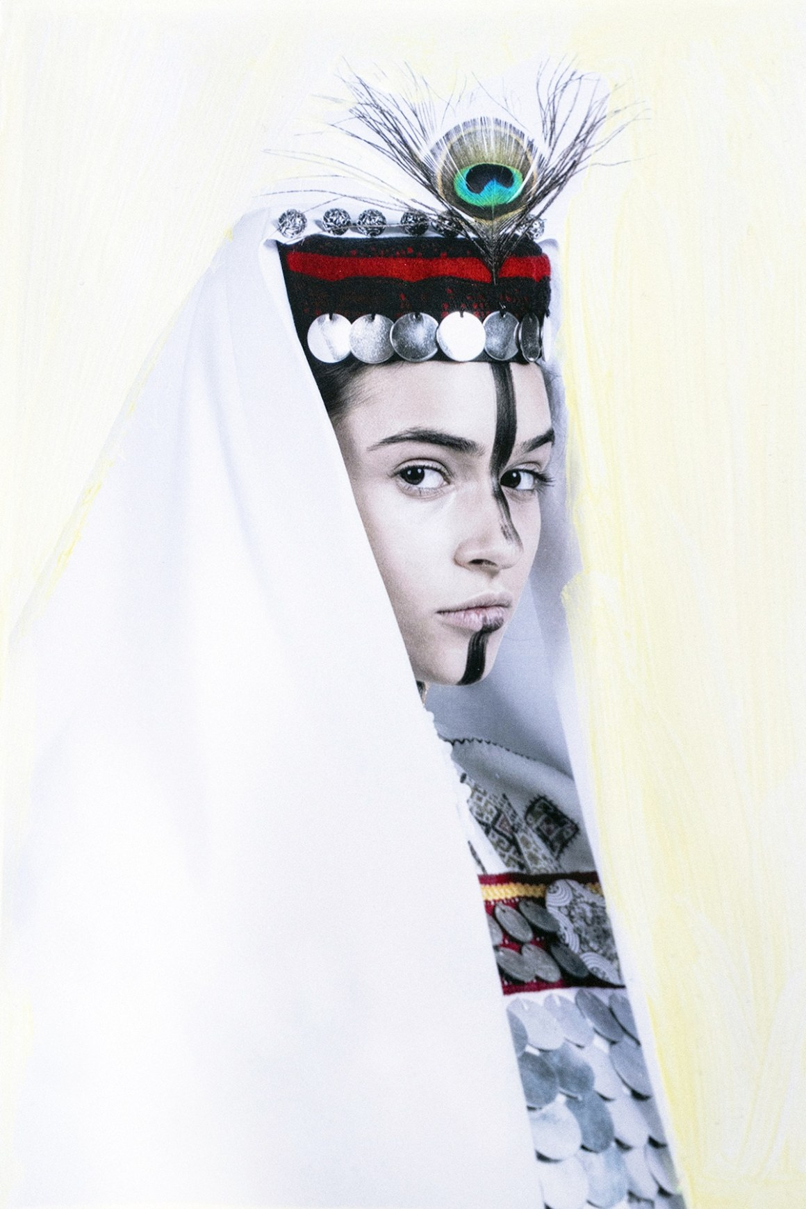 Girl Wearing Traditional Serbian Costume