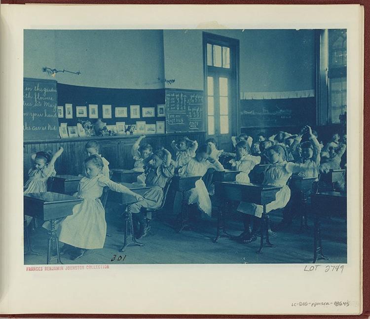 School Children DC Cyanotype