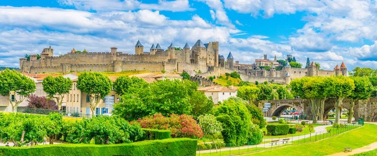 Carcassonne, France City From Medieval Times