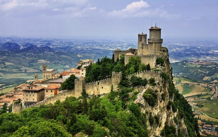 San Marino, Italy City From Medieval Times