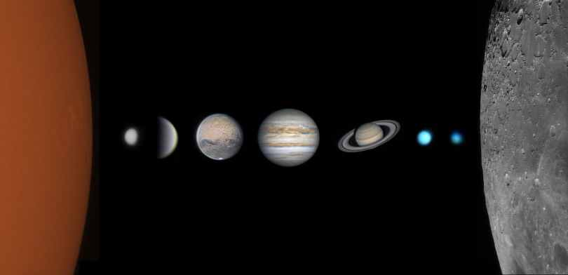 Photo of the Solar System Minus Earth