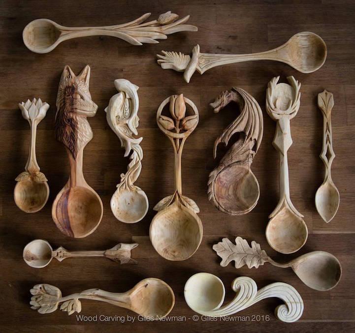 Intricately Hard Carved Wooden Spoons Pay Homage To Nature