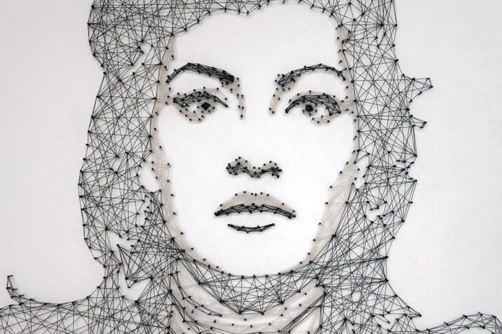 Italian Artist Pamela Cagna Has Once Again N Us Away With Her Intricately Designed Thread And Nail Portraits The Series Of Prehensive Works