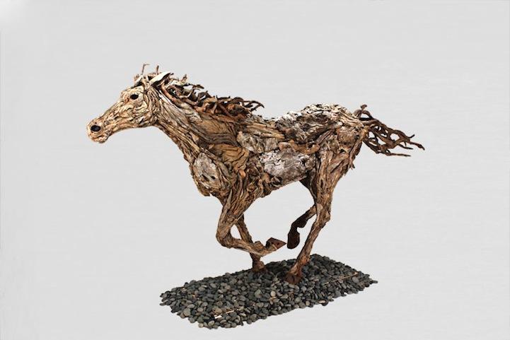Abstract Driftwood Sculpture