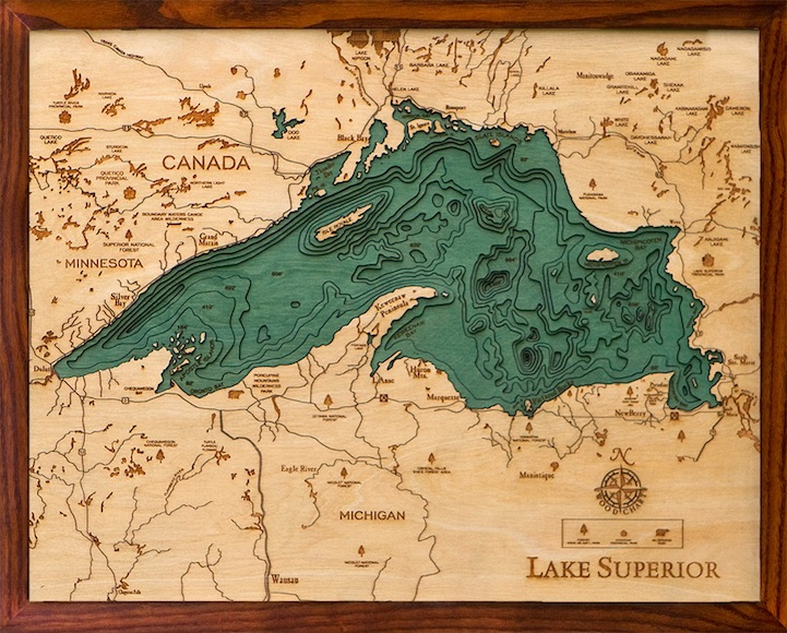 Topography Lake Superior