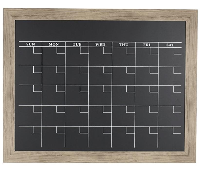 chalkboard calendar for organization