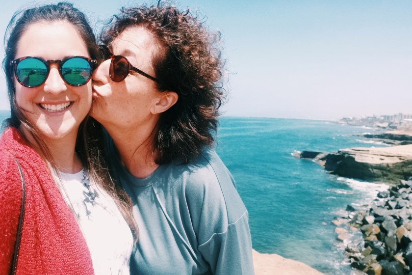 happy mother and daughter standing by the beach, best Mother's Day gifts