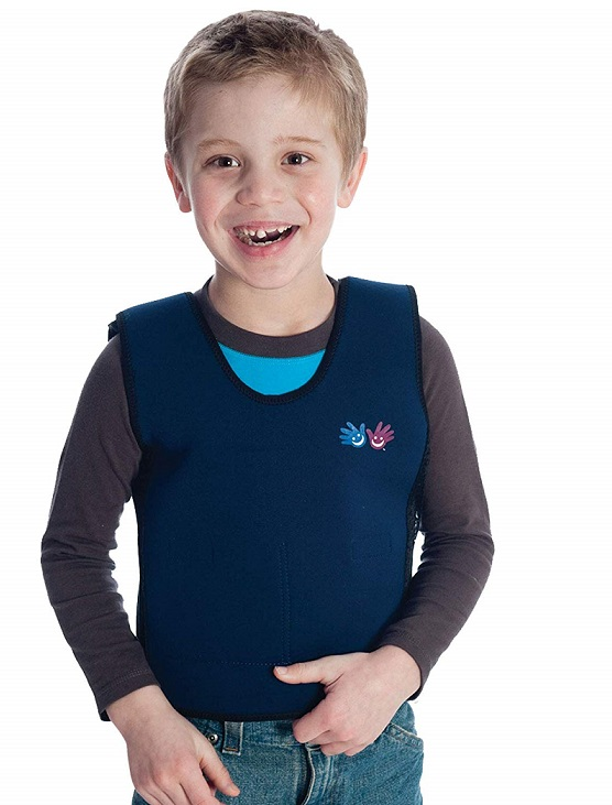 weighted vest to comfort kids with Autism