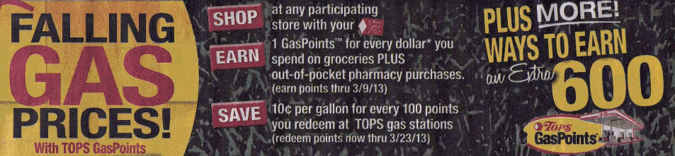 tops gas points 1