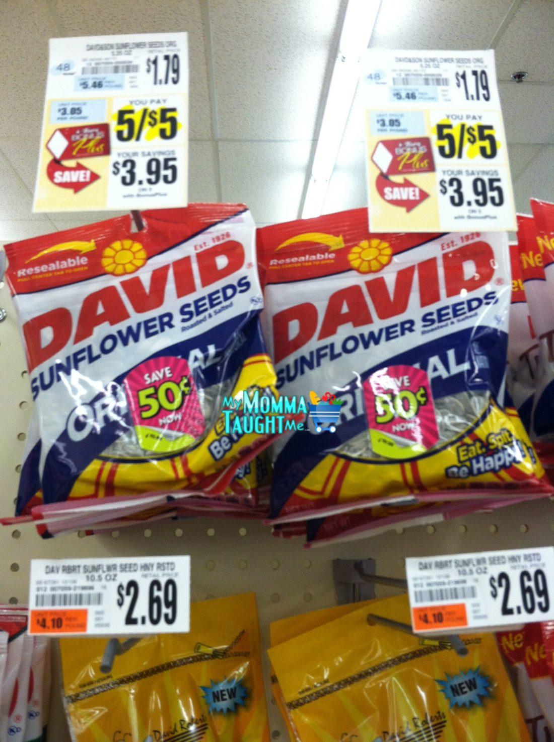 David sunflower seeds coupon 2018
