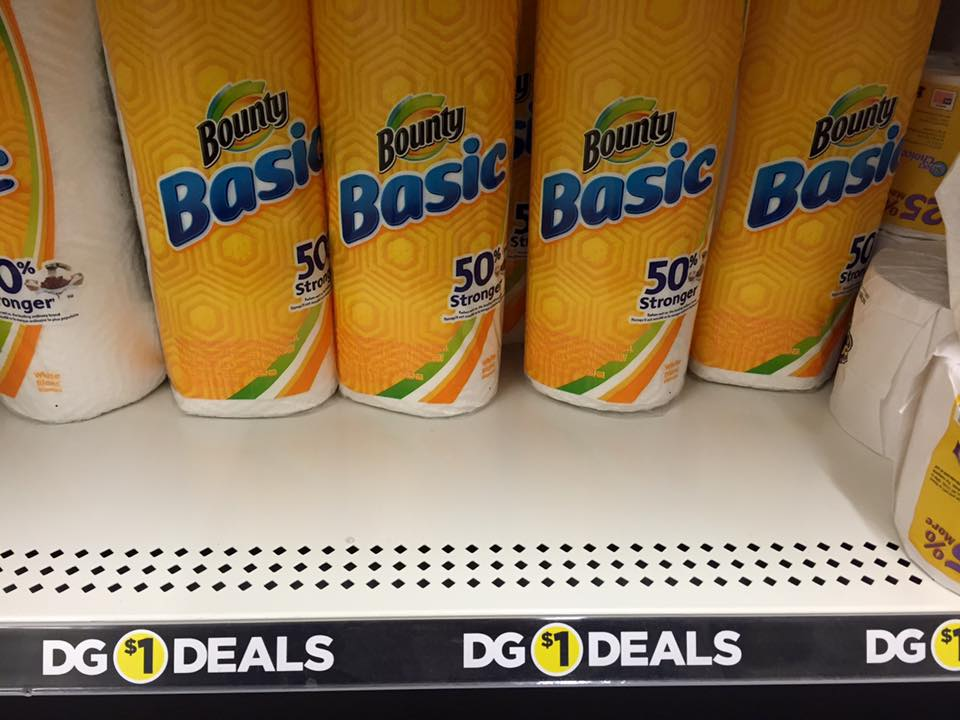 Bounty Paper Towel Single Rolls Only $0.50 at Dollar General