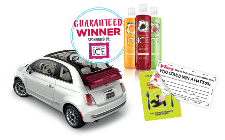 Tops Monopoly Second Chance Winner Brand New FIAT 500c