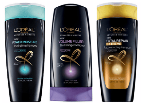 L'Oreal Advanced Hair Care as low as $0.75 (after coupons and rewards)