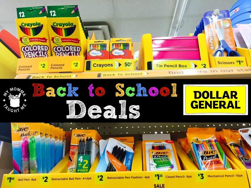 DG Back to School Deals