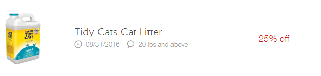 25% cat litter cartwheel offer