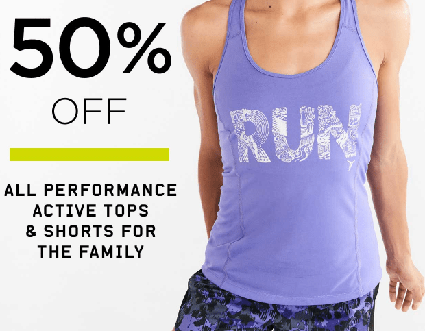 50 off active wear at old navy